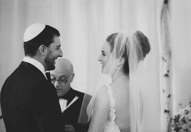 traditional Jewish wedding ceremony | Lime Green Photography | blog.theknot.com
