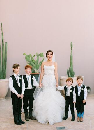 Ring Bearers in Cowboy Boots // Mi Belle Photographers