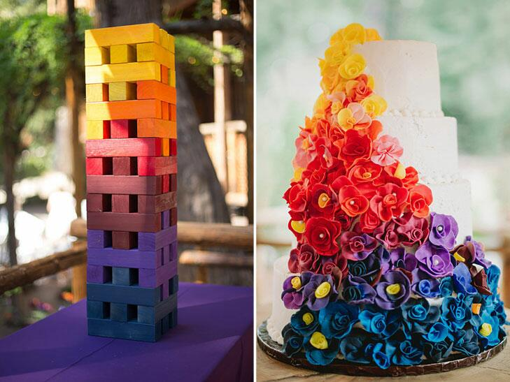 Colorful wedding photos