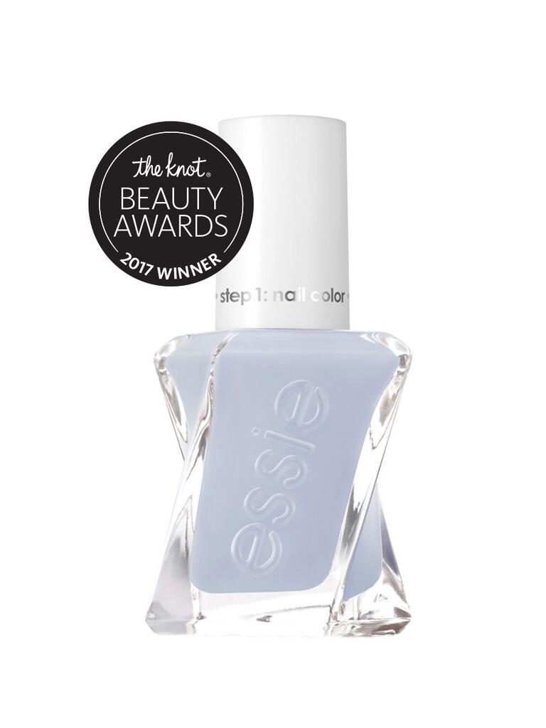 The Knot top budget pick for gel effect nail polish is the Essie Gel Couture in Perfect Posture and Top Coat
