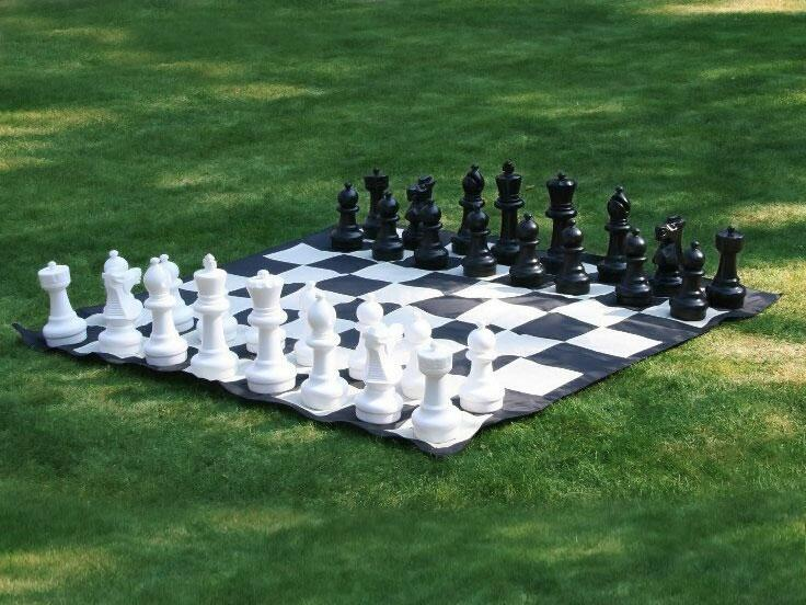 giant lawn chess set and board