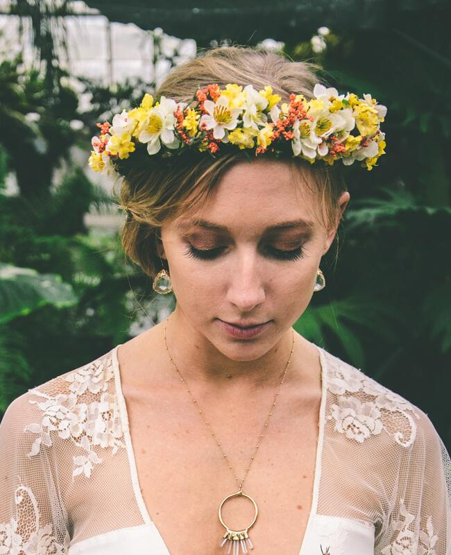 Yellow Bridal Flower Crown