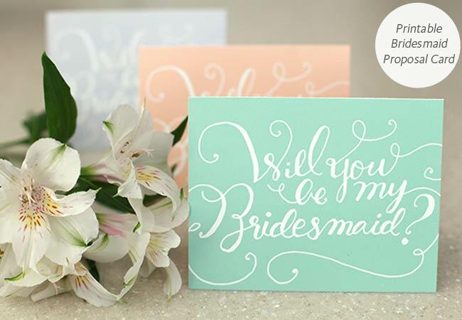 DIY printable bridesmaid proposal card: Something Pretty / TheKnot.com