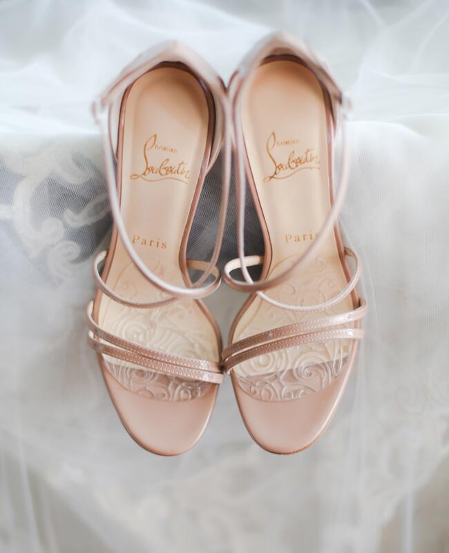 Christian Louboutin bridal heels   Cristina Elena Photography   Blog.theknot.com