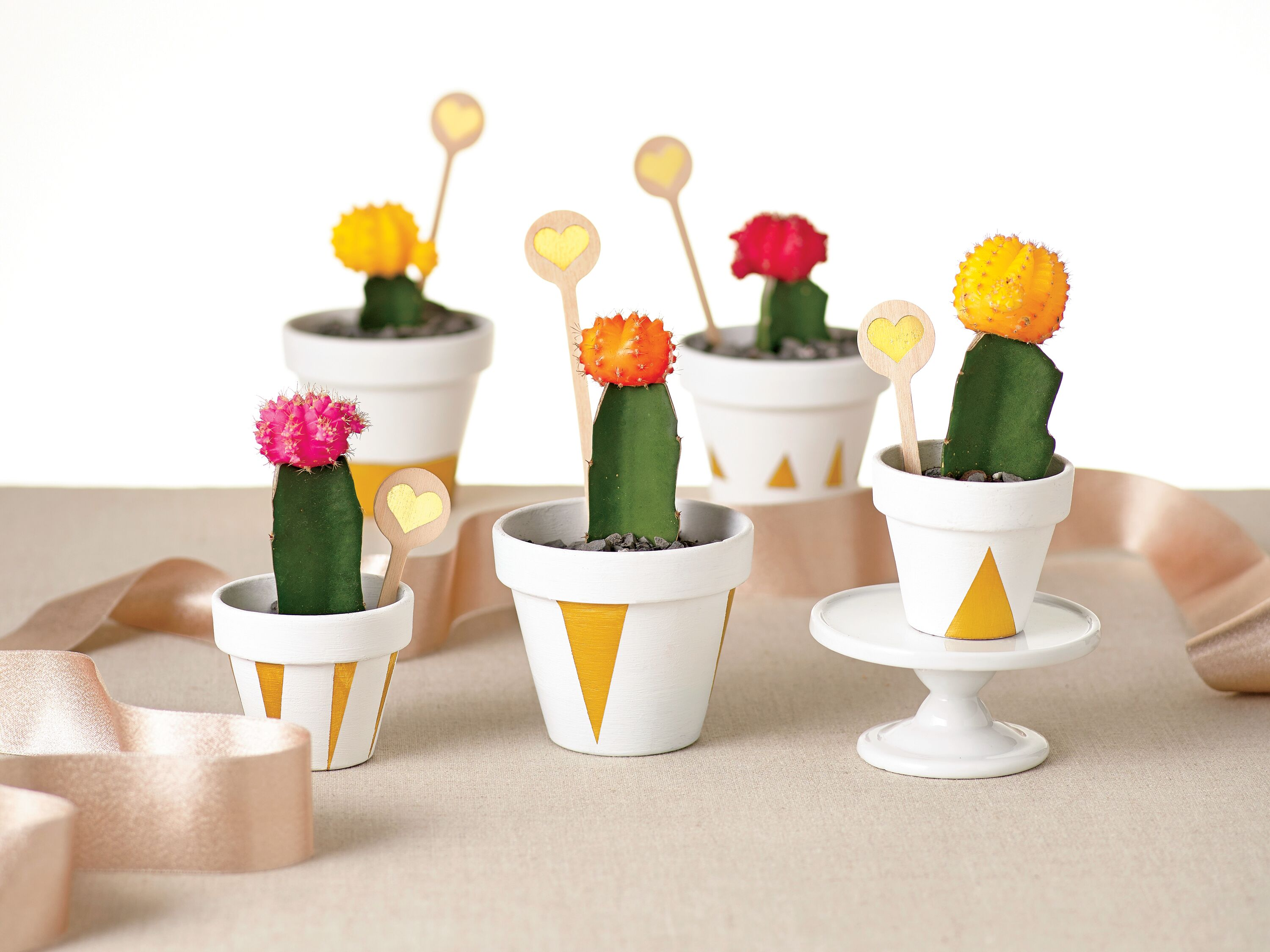 How to DIY an Awesome Gold-Painted Cactus Favor
