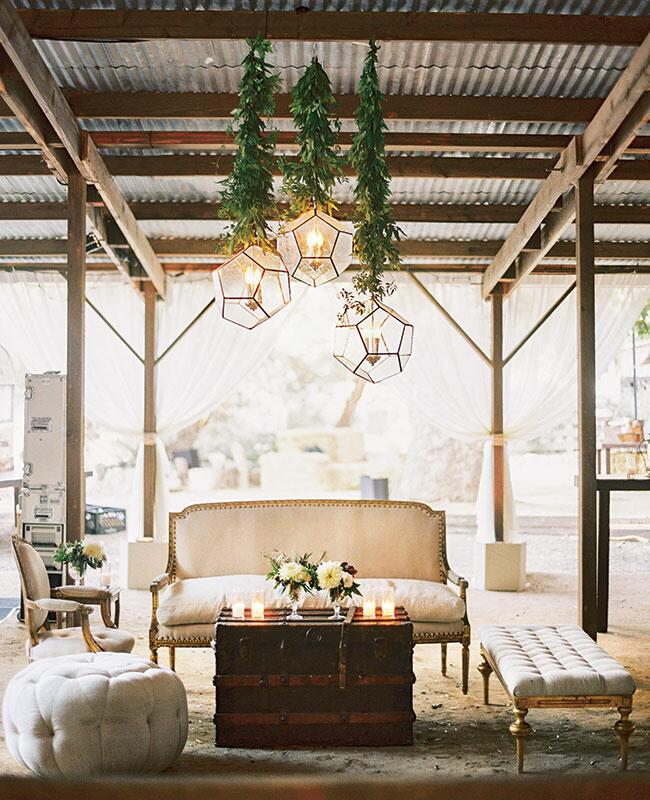 Rustic Wedding Reception Lounge Ideas -- See Photos Here