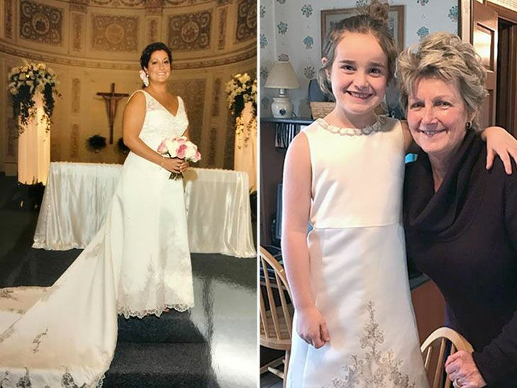 b32578da35 This Woman Turned Her Wedding Gown Into Her Daughter s First Communion Dress  and the Result Is Amazing