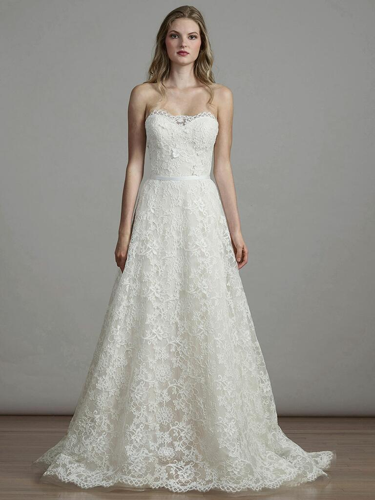 Liancarlo Spring 2018 lace A-line strapless sweetheart wedding dress