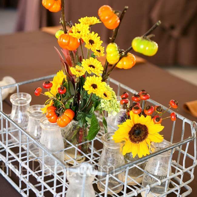Simple Casual Wedding Ideas: Casual Reception Centerpieces