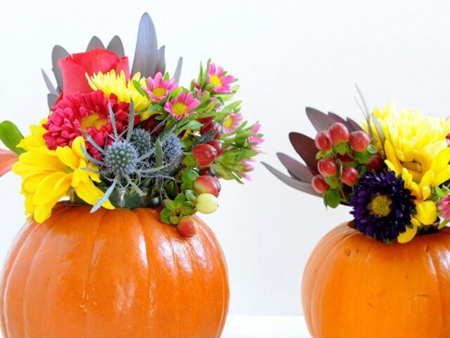 Diy Pumpkin Flower Vases Youll Be Obsessing Over All Season Long