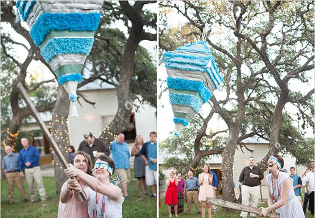 Blue Triangular Pinata, Photo by: Eric Kotara Photography