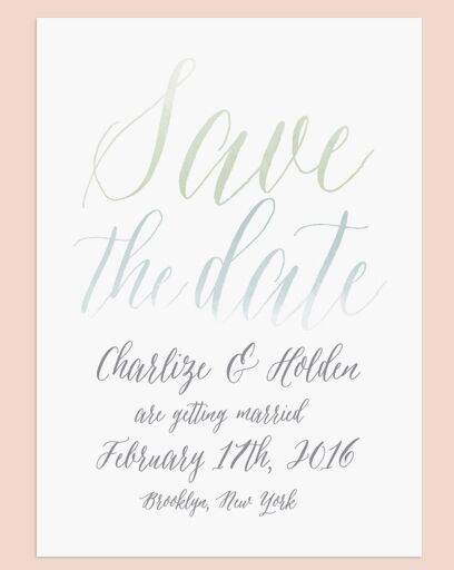 Watercolor Calligraphy Save The Date From Love Vs Design