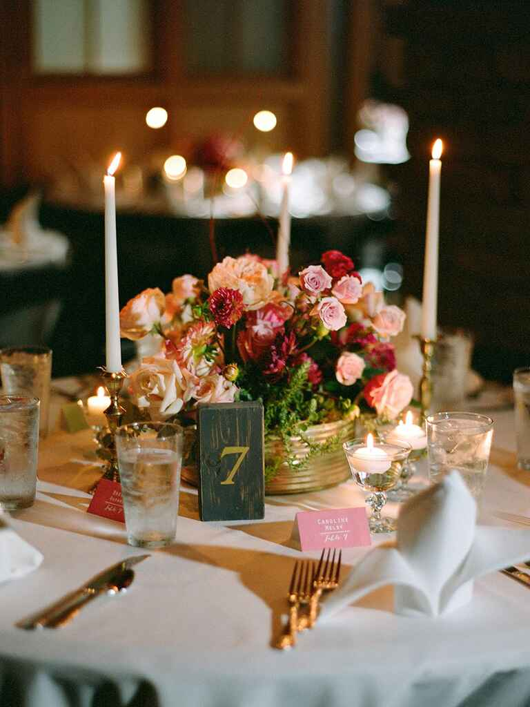 romantic wedding centerpieces with candles. Black Bedroom Furniture Sets. Home Design Ideas