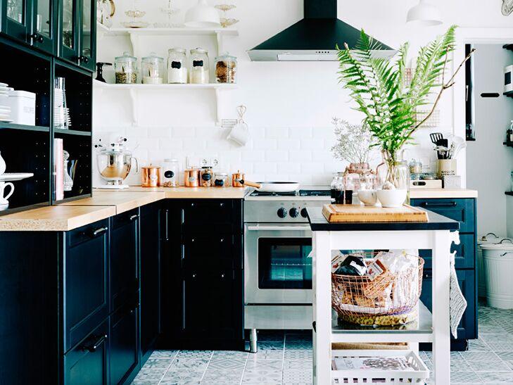 Black And White IKEA Kitchen