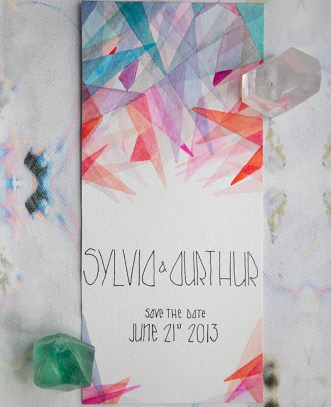 Colorful Crystal Save-the-Date