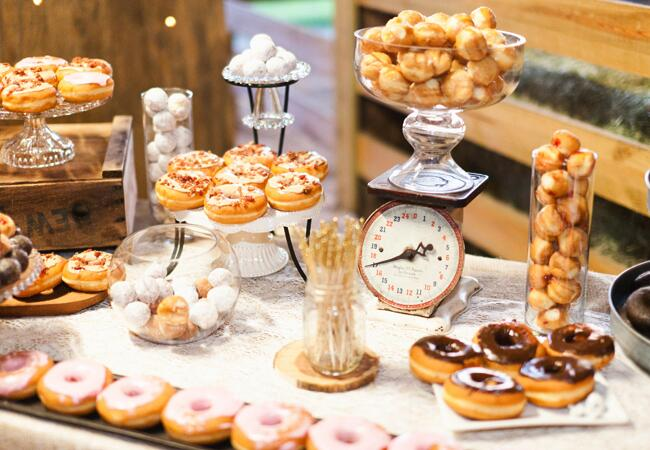 Donuts at weddings |<img class=
