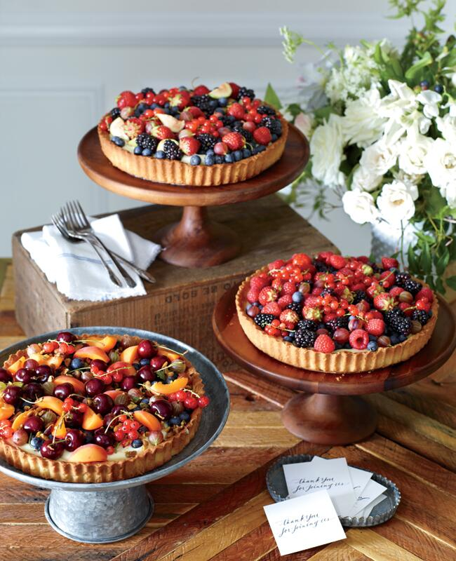 Rustic wedding desserts, berry pies | Philip Ficks | blog.theknot.com