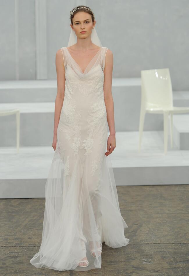 Monique Lhuillier Spring 2015 | MCV Photo | The Knot Blog