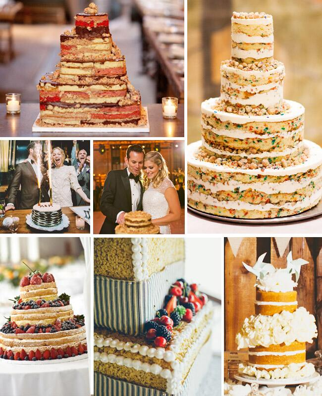 7 Naked Wedding Cakes
