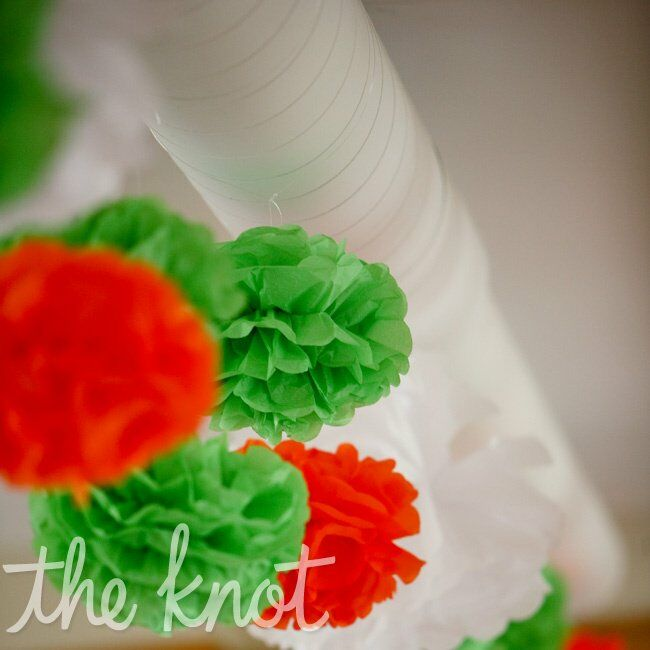Outdoor Wedding Ceremony Des Moines: Orange And Green Wedding Reception Decor