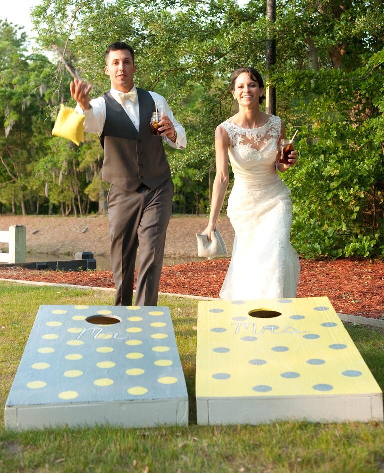 North Carolina Farm Wedding Kiersten Sam: Fun Activities For Your Wedding Cocktail Hour
