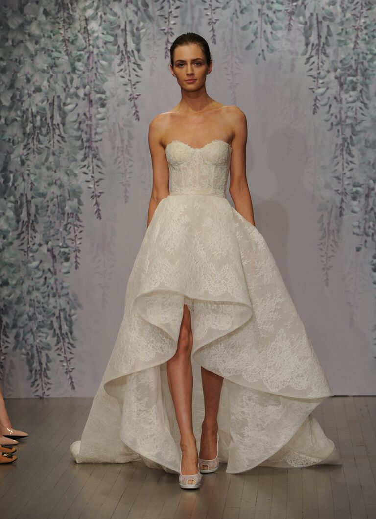 Get whitney port 39 s high low wedding dress look for White high low wedding dress