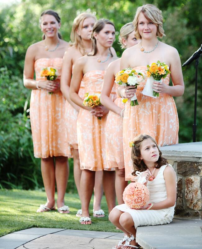 Floral Print Bridesmaid Dresses |<img class=