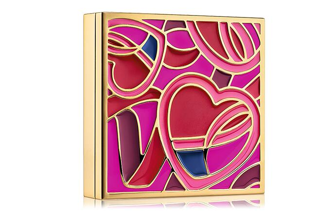 Pink Ribbon Metal Compact