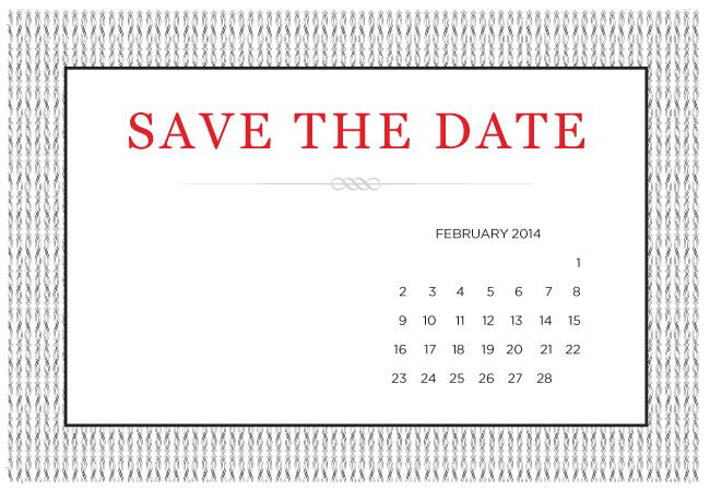 whimsical wedding save the date template. hand drawn calendar save ...