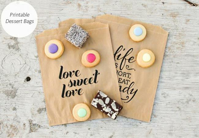 DIY dessert wedding favor bag: The Pretty Blog / TheKnot.com