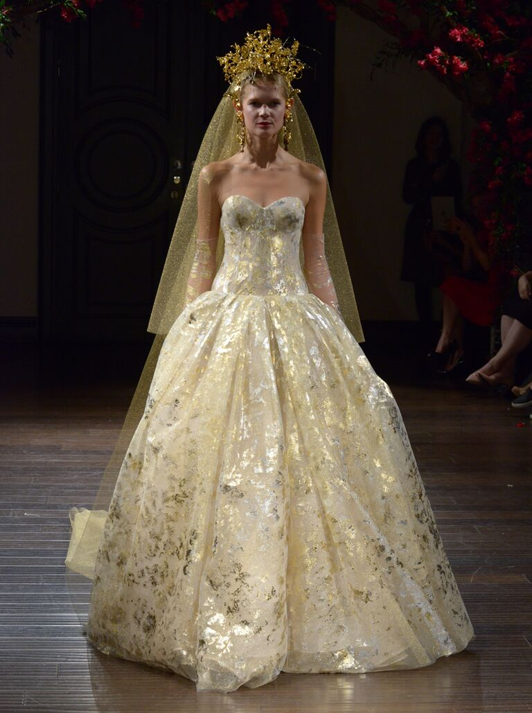 Gold dress mother of the bride christ