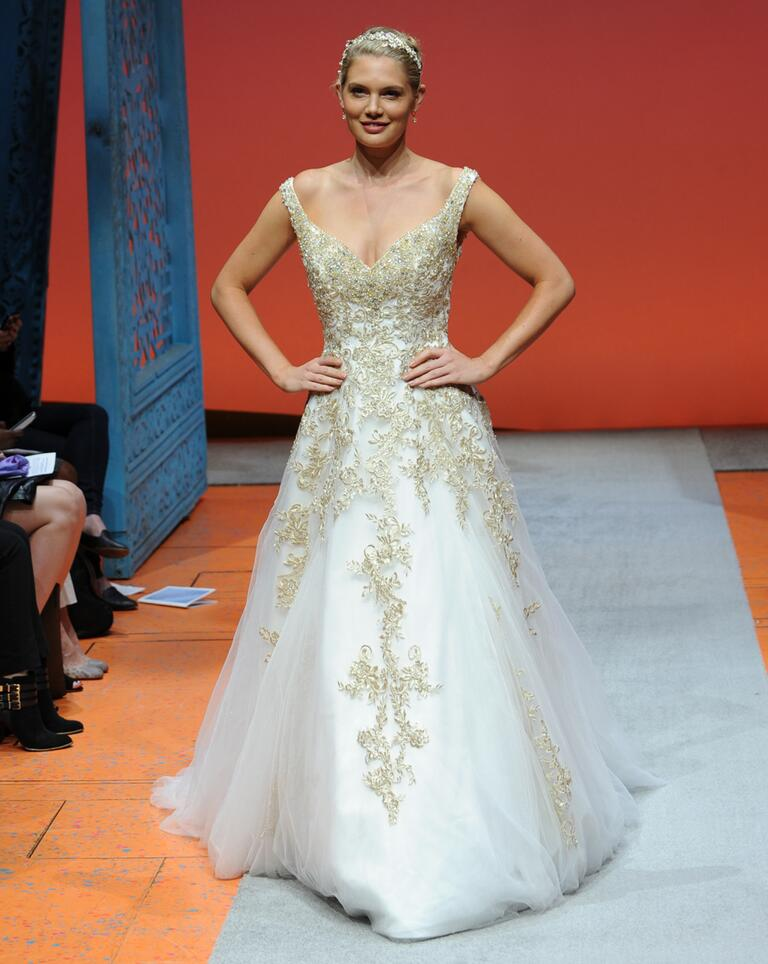 Disney fairy tale weddings by alfred angelo bridal fashion for Disney style wedding dresses