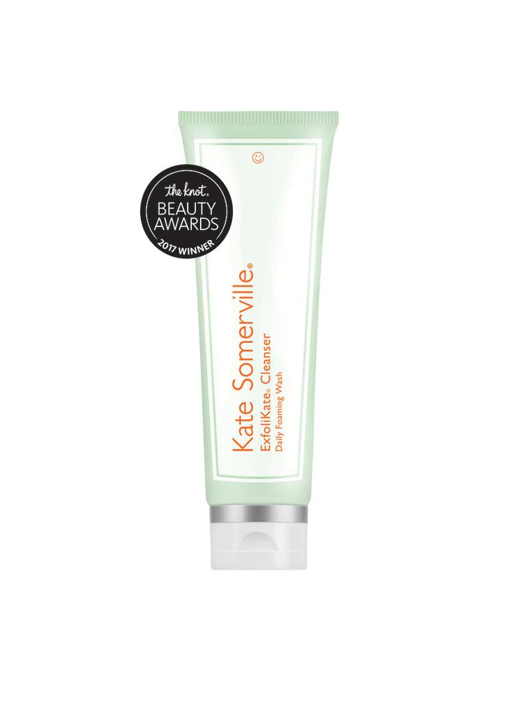 Our pick for best cleanser/exfoliant is the ExfoliKate Cleanser daily foaming wash