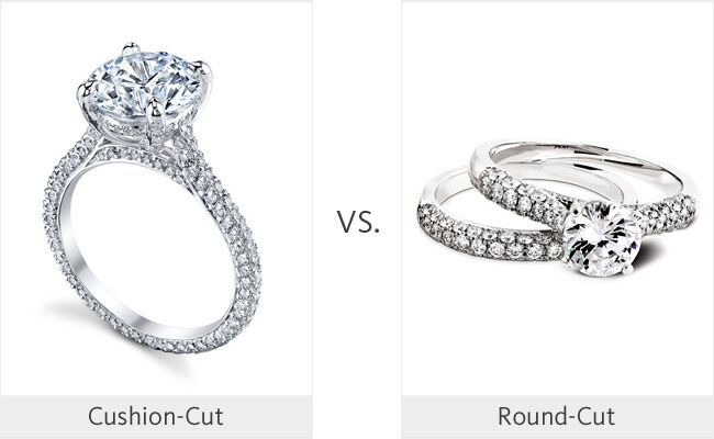 Cushion Cut Vs Round Cut Weddingmadness