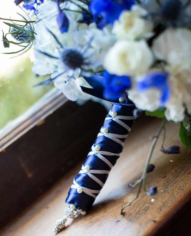 DIY ribbon wedding decor: Look Wedding Photography / TheKnot.com
