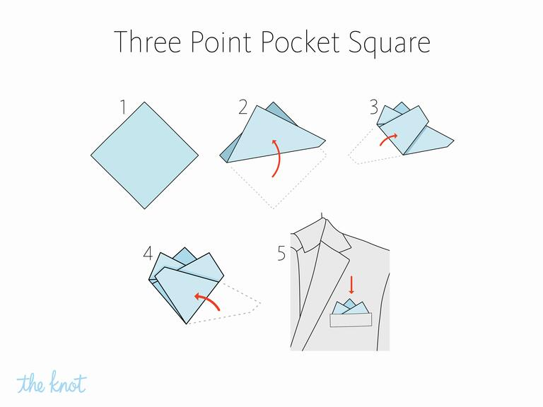 MIKOLO - How to fold a three point pocket square
