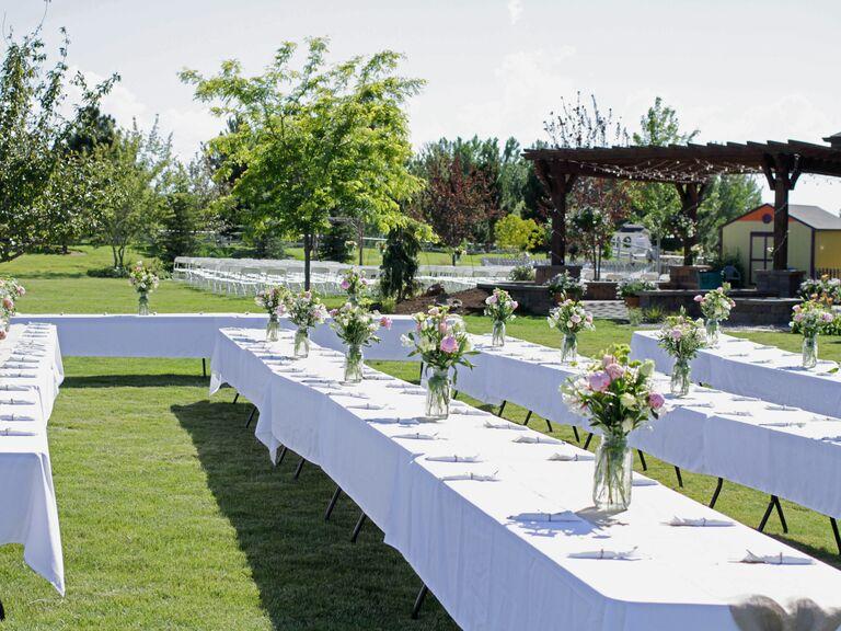 Outside home wedding