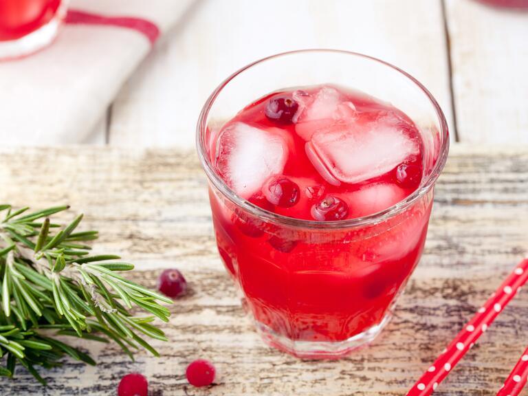 Cranberry signature drink at wedding
