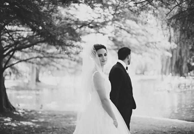dramatic couple's portrait | Lime Green Photography | blog.theknot.com
