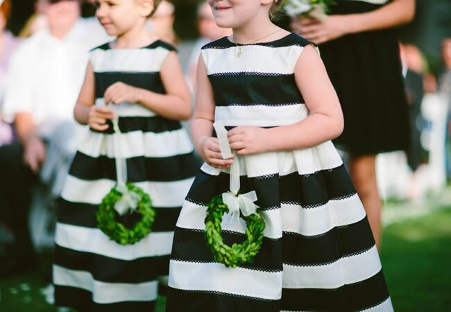 10 Stylish Flower Girl Looks|Heather Ann Design & Photography|blog.TheKnot.com