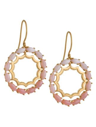 Jeweled Circle Earrings