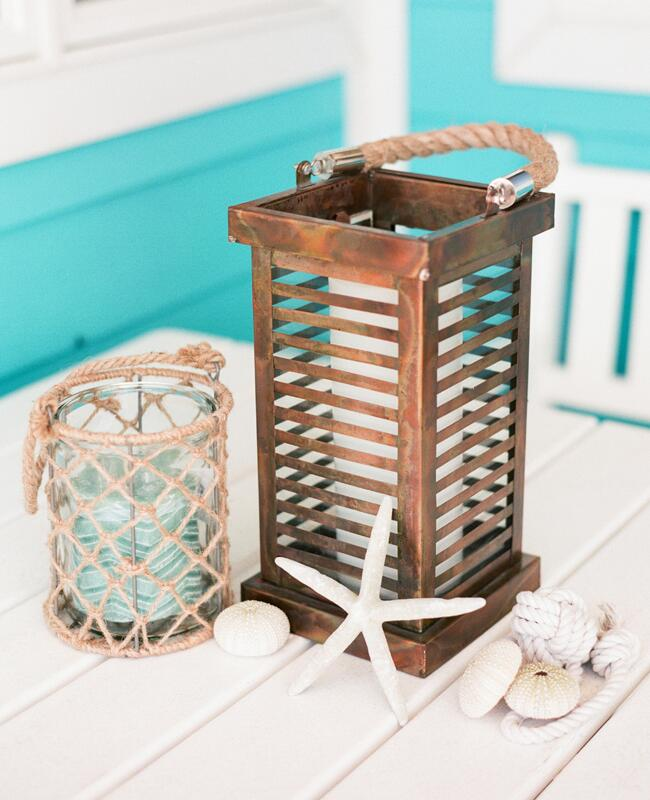 Nautical Copper Lantern | Jodi Miller Photography | blog.TheKnot.com