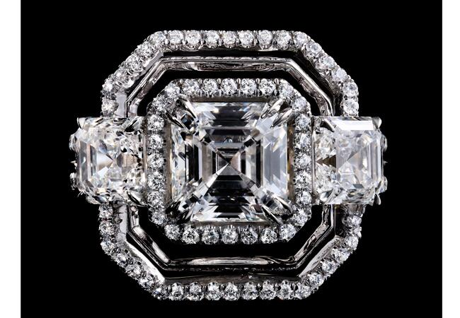 Alexandra-Mor_Signature-Three-Stone-Asscher-Cut-Diamond-Ring_Black-BG_RGB_Top