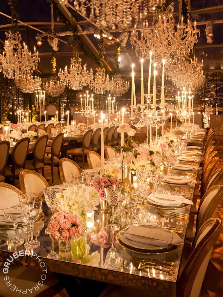 Romantic wedding reception decor