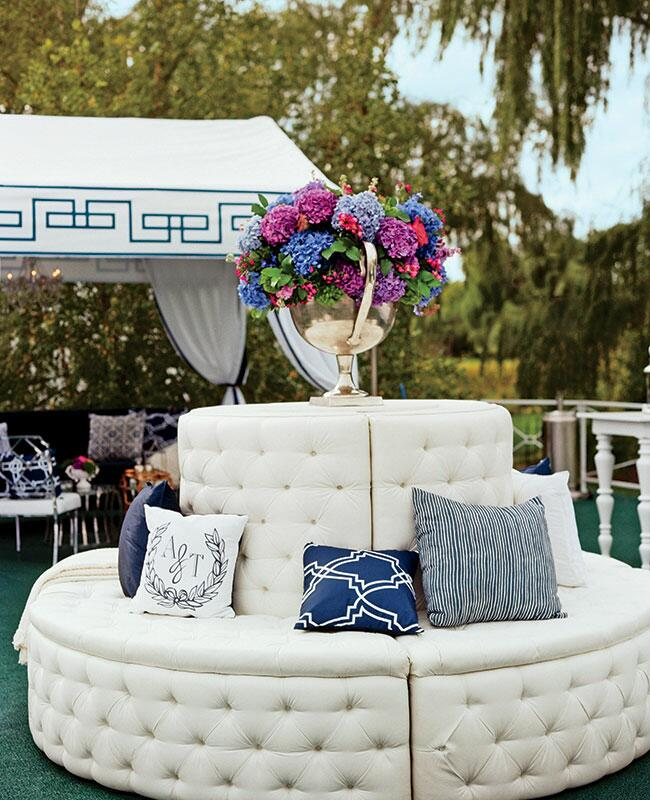 Ceremony Seating Reception: A Formal, Modern, Lavish Outdoor Estate Wedding In