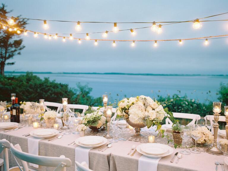 Cape Cod sea-side engagement dinner