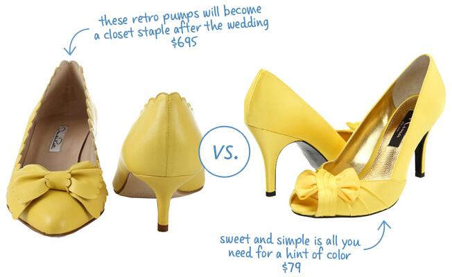 Bright Shoes With A Bow Accent