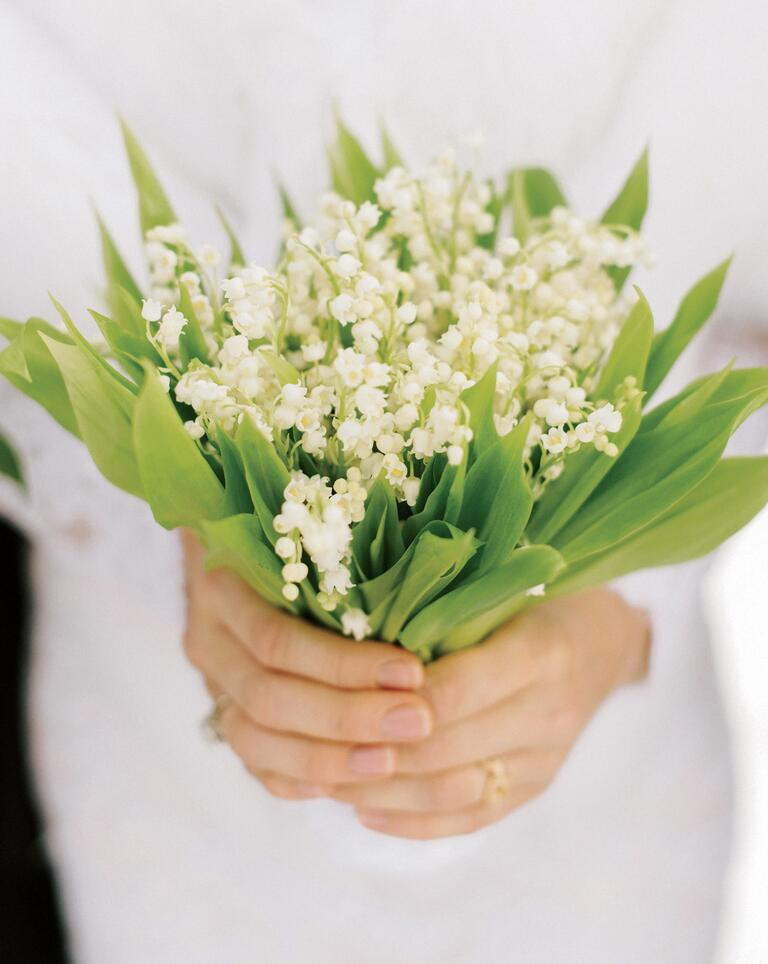 Simple lily of the valley bridal bouquet
