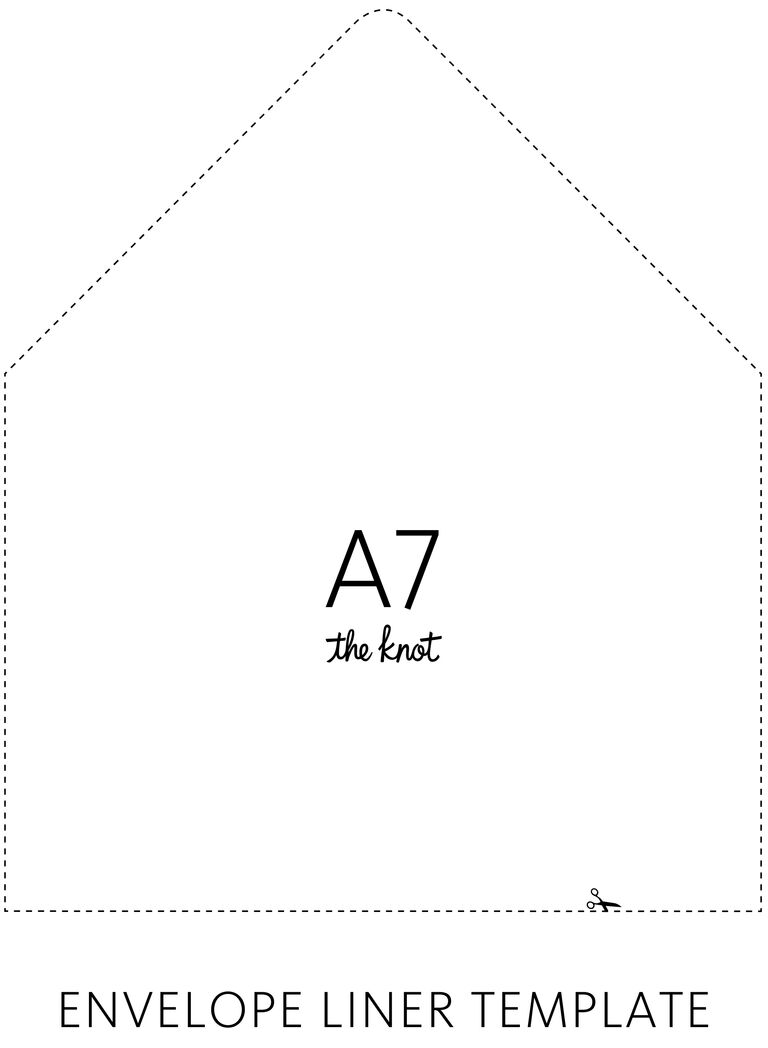 The Knot Envelope Liner Template