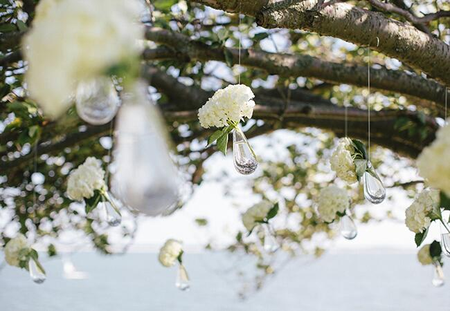 hanging ceremony flowers | The Wedding Artists Collective | blog.theknot.com